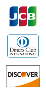 JCB・Diners Club・DISCOVER