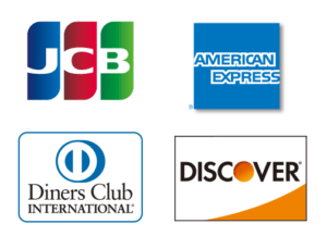 JCB・Diners Club・AMERICAN EXPRESS・DISCOVER
