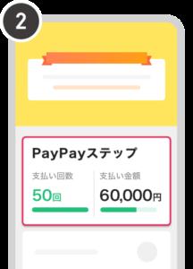 [PayPayステップ]を選択